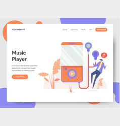 music player concept vector image