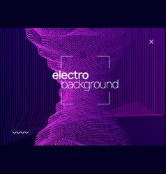 Neon electronic poster electro dance dj music vector