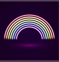 Neon tubes rainbow vector