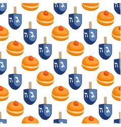 On theme big colored pattern hanukkah vector