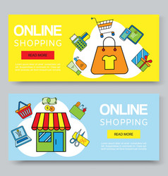 online shopping or summer sale banners vector image
