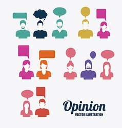 Opinio desing vector