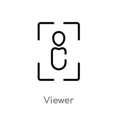 Outline viewer icon isolated black simple line vector