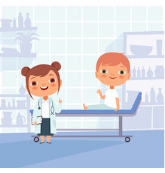 patient at doctor appointment funny vector image
