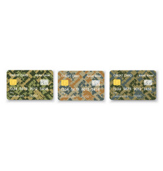 pattern credit card in military abstract vector image
