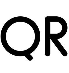 Qatari riyal sign currency state qatar vector