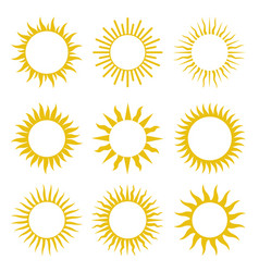 Rays beams element sunburst starburst set vector