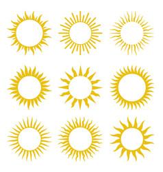 rays beams element sunburst starburst set vector image