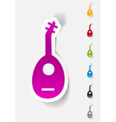 Realistic design element lute vector