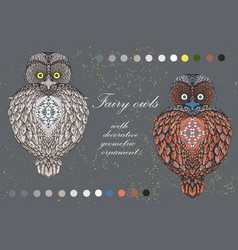 sacral owl - icon design vector image