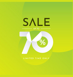 Sale up to 70 limited time only label tag vector