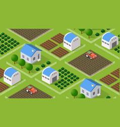 seamless nature rural vector image