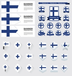 SET finland vector image