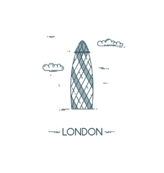 Skyscraper Gherkin in City of London vector