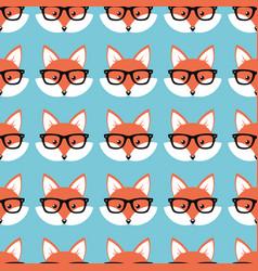 Smart cartoon foxes vector