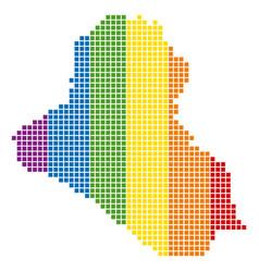 Spectrum pixel dotted iraq map vector