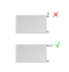 Steel panel radiators correct and vector