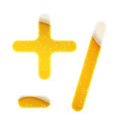 The symbols for alphabet in form lemonade vector