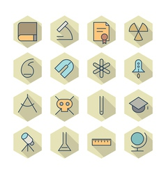 Thin Line Icons For Science and Education vector image