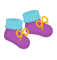 Tiny childish purple socks vector