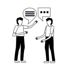 two man talk bubbles vector image