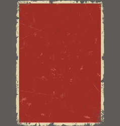 vintage red abstract background vector image