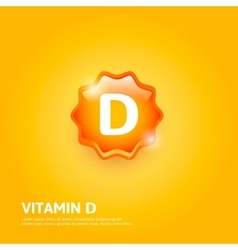 Vitamin D label vector image