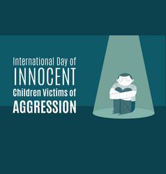 World day innocent children victims - boy vector