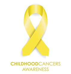 childhood cancer ribbon vector image vector image