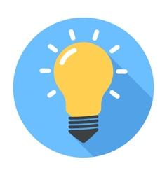 Lightbulb Flat Design icon vector image vector image