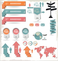 Retro Color Infographics Elements vector image vector image