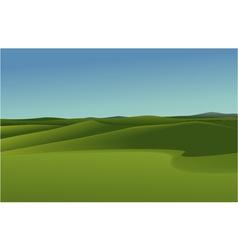 Rural landscape with green hills vector image
