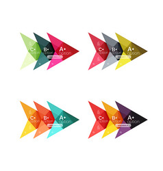 colorful arrow option infographics vector image vector image