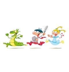 Dragon Prince and Princess vector image vector image