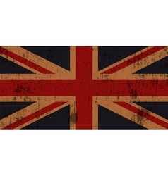 Grunge Old Union Jack Flag vector image vector image