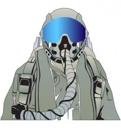 military pilot vector image