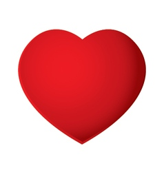 Red heart isolated on white background heart vector