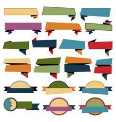 retro ribbons banners collection on white vector image