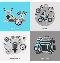 Rider Flat Set vector image vector image