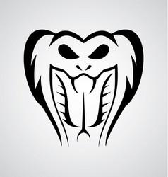 Snake Head Tribal vector image
