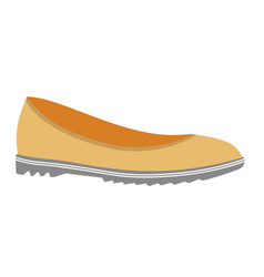 casual loafers of soft leather on unever sole vector image vector image
