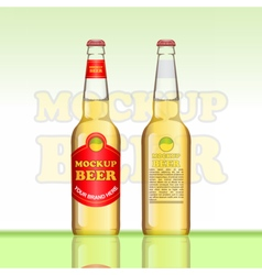 Digital brown beer mockup vector image