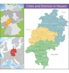 Map of Hesse vector image vector image