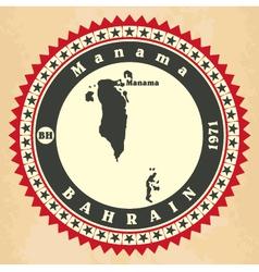 Vintage label-sticker cards of Bahrain vector image