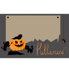 halloween card with space for text vector image