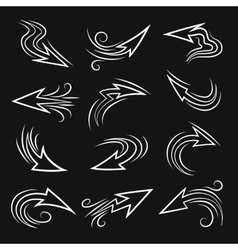 Handmade Arrow set vector image vector image