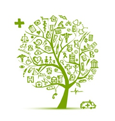 Medical tree concept for your design vector image vector image