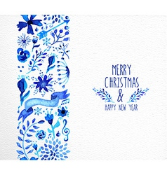 Merry Christmas hand drawn seamless pattern vector image vector image