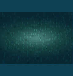 abstract binary code digital background vector image