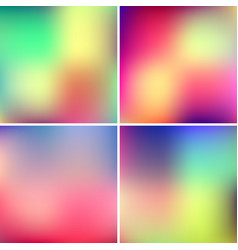 Abstract blured color backgrounds vector